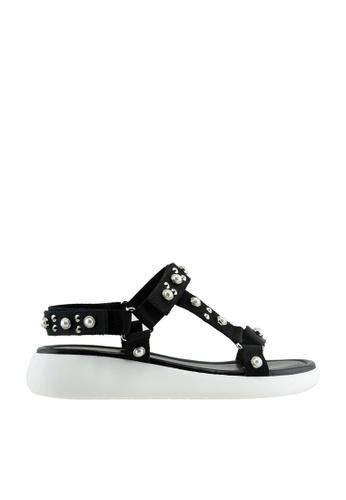 eq:iq black eqBROOK Studded Sporty Sandals EQ351SH48UTZSG_1