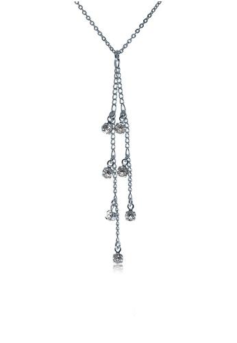 Alfredulla white Rockdangles Silver Crystal Necklace FB605ACBF0FA50GS_1