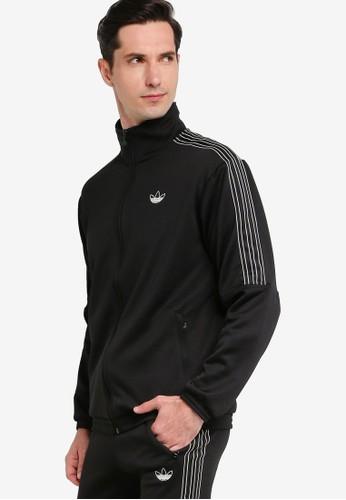 ADIDAS black sprt foundation poly track jacket B47C3AA7ABF891GS_1