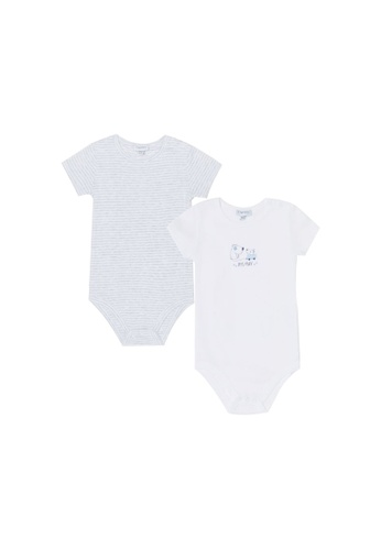 OVS grey Printed Bodysuit Pack 115E1KAB77FD43GS_1