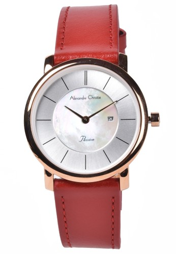Alexandre Christie red Alexandre Christie - Jam Tangan Wanita - Rosegold - Red Leather Strap - 2738LDLRGSL DBEB1AC6068C35GS_1