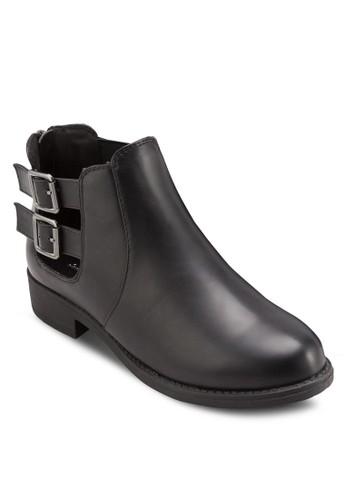 雙扣環帶側zalora 手錶鏤空短靴, 女鞋, 鞋