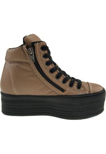 Maxstar brown Maxstar Women's C50 Padded Lining Hidden Heel Platform PU Sneakers US Women Size MA164SH62POBSG_1