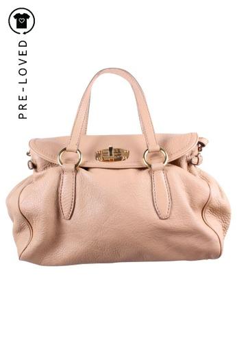 Miu Miu beige Pre-Loved miu miu Beige Leather Tote Bag E0B49AC136C29FGS_1
