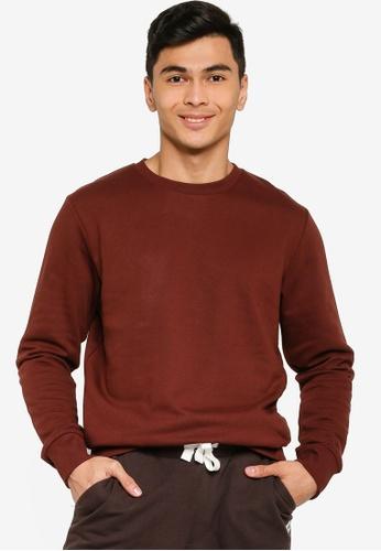 Produkt red Basic Crew Neck Sweater 459F1AABBB03E7GS_1