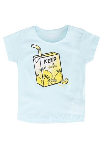 FOX Kids & Baby green Crop Sleeve Tee 0BD9CKA2B44D3DGS_1