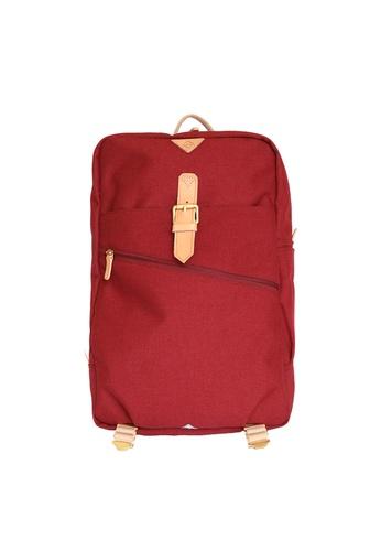 Samuel Ashley red Samuel Ashley Kansas Nylon Backpack - Wine 8B738ACC8D3DA7GS_1