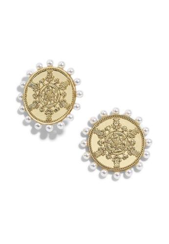 Kings Collection gold Vintage Pattern Faux Pearl Earrings (KJEA20020) 3B2E1ACE7924F9GS_1