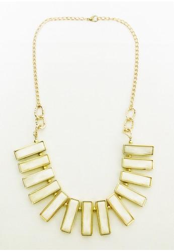 Istana Accessories gold Kalung Revina Kristal Plastik Fashion Necklace-putih 8672BACC0075C6GS_1