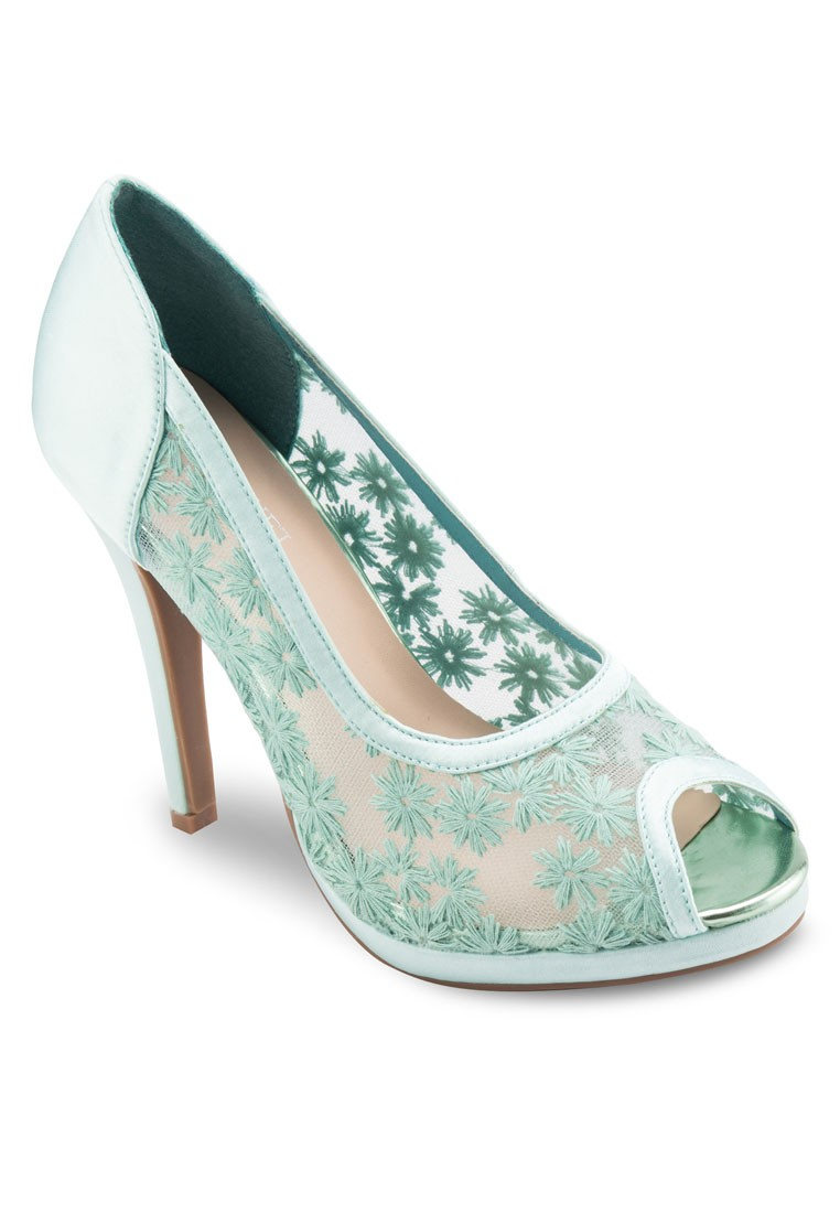 Occasion Peep Toe Lace Heels