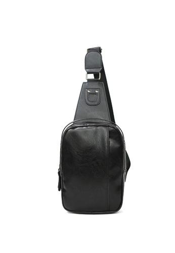 Lara black Plain Zipper Cross Body Bag - Black 38E33AC06738BFGS_1