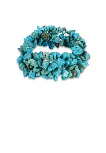 Glamorousky blue Fashion Creative Irregular Blue Turquoise Bracelet A5512AC54BE710GS_1