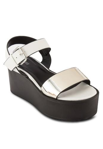 金屬帶繞esprit 台灣門市踝厚底涼鞋, 女鞋, 楔形涼鞋