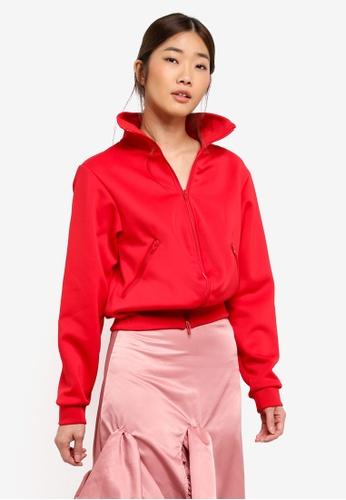 Stylenanda red Zippered Jacket 9E6B0AA23FB2E3GS_1