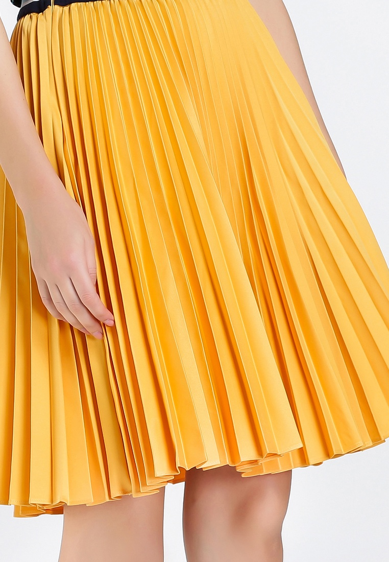 Caramel Pleated Pleated Hopeshow Hopeshow Caramel Skirt Skirt Pleated Hopeshow Skirt zRSqxBF