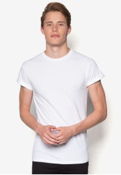Topman white White Muscle Fit Roller T-Shirt TO413AA36CKHMY_1