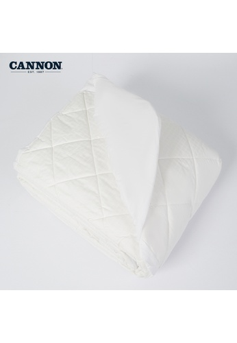 CANNON white CANNON Comfort Indulgence Mattress Protector. B3828HLCE96FBEGS_1