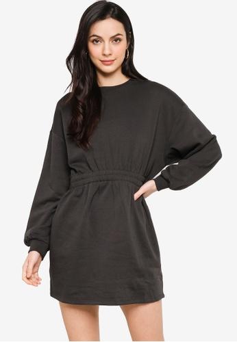 H&M grey Sweatshirt Dress 99367AA28313A7GS_1