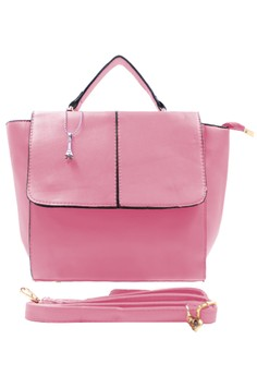 Lenra Leather Hand Bag with Sling