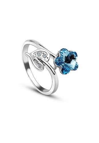 OUXI blue OUXI Crystal Ring 40155 OU821AC96FDBMY_1