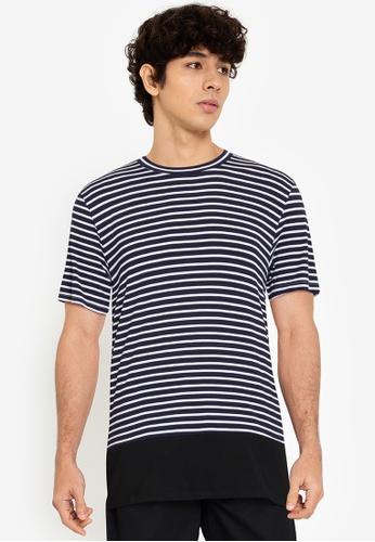 ZALORA BASICS multi Quarter Stripes T-Shirt 7985EAAC2ED5A6GS_1