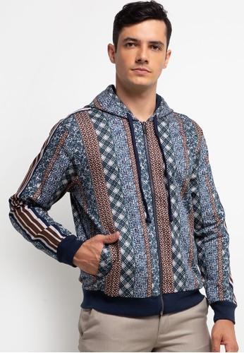 MOC blue and brown OBBO-KHAKI Jacket E1168AA7088BC8GS_1