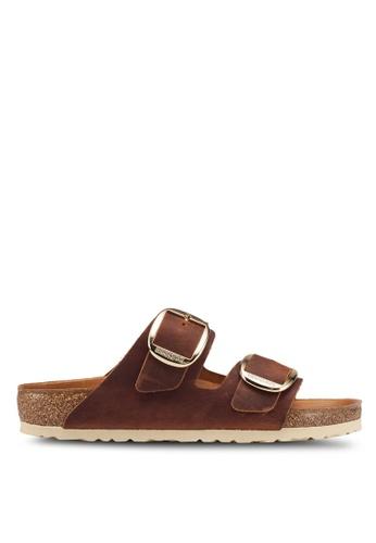 Birkenstock brown Arizona Big Buckle Sandals E988DSHF268613GS_1