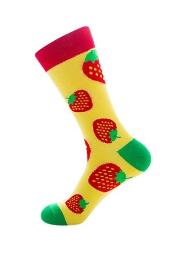 Kings Collection yellow Strawberry Pattern Cozy Socks (EU39-EU45) 9D2B9AA5DB871CGS_1