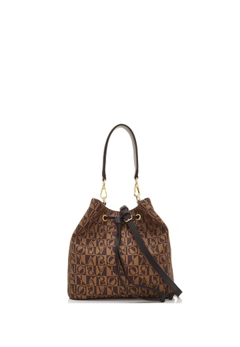BONIA black Black Claire Monogram Bucket Bag II E5480AC0FA1CB4GS_1