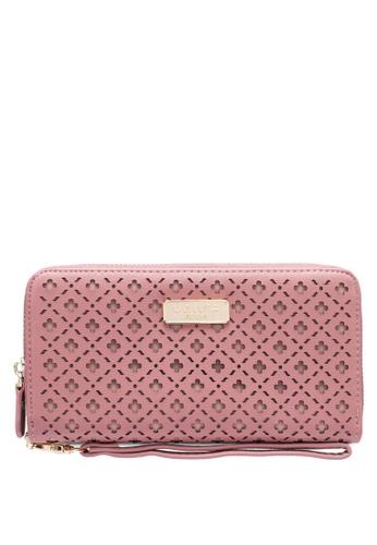 Unisa pink Laser Cut Ladies Zip-Up Wallet DB2C0ACCDBB630GS_1