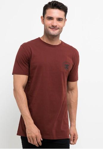 DC red Barry Basic Short Sleeve Tee Shirt EDF41AA5BCB3DFGS_1