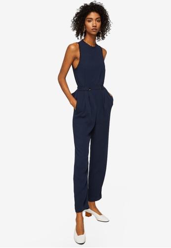 Mango blue Bow Long Jumpsuit 6F11EAAC103C98GS_1