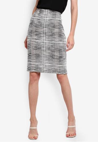 Max Studio multi Knit Tweed Pencil Skirt C62FDAA2AA582BGS_1