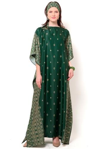 Kanzi by liza yahya green Kanzi Exclusive Short Sleeve Songket Kaftan AB07EAA32C1611GS_1
