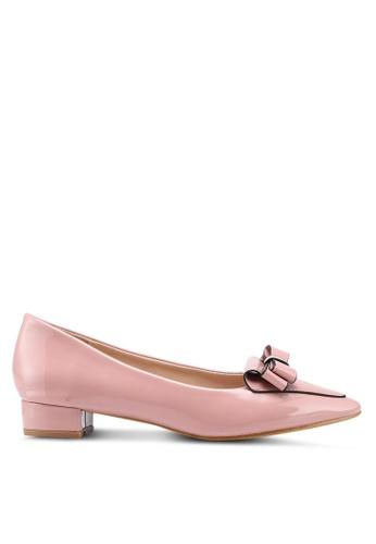 Carlton London pink Block Heels With Bow Detail 23609SHDA991DBGS_1