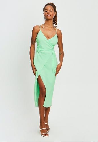 BWLDR green Cole Midi Dress B15EBAA0BDAC29GS_1
