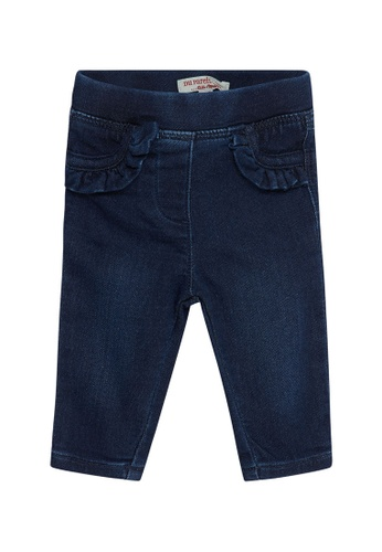 Du Pareil Au Même (DPAM) navy Frill Jeans 96426KAD7753FBGS_1