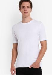 Selected Homme white Short Sleeve Crew Neck Tee SE364AA90EGFMY_1