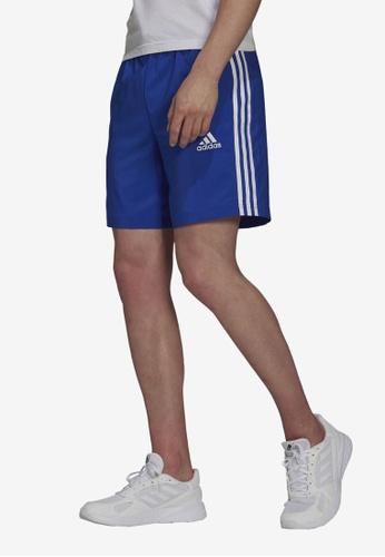 ADIDAS blue aeroready essentials chelsea 3-stripes shorts 14645AA686C8AFGS_1