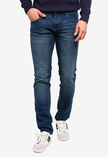 OVS 藍色 Skinny-Fit Stretch 牛仔褲 C43C4AAED2EA59GS_1