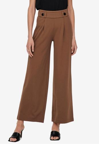 JACQUELINE DE YONG brown Geggo New Long Pants 409FEAAEAEFB78GS_1