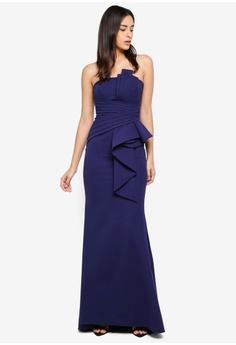 f19def0a725 24% OFF Goddiva Fan Pleated Boob Tube Maxi Dress S  159.90 NOW S  120.90  Sizes 8 12 14 16