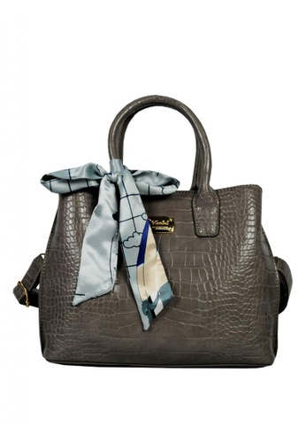 Kimbel International grey Handbag With Sling D936DAC271DD1BGS_1
