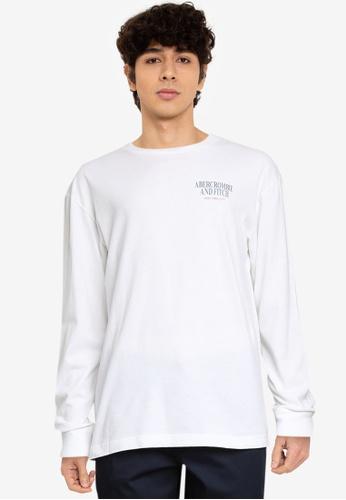 Abercrombie & Fitch white Summer Core T-Shirt 4C2F9AA32DE30CGS_1