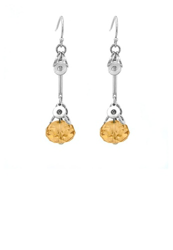 Glamorousky yellow Glaring Earrings with Yellow Austrian Element Crystal F79C4AC33ABB56GS_1
