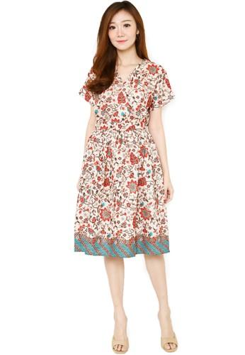 Flike Batik multi Batik Flike Store Dress Wanita Dress Sepan Red Lovers  8615FAA20B165BGS 1 6e5413d3d4