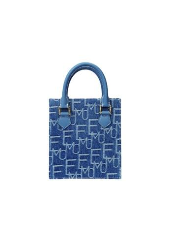 EMO blue Korean fashion Brand‧Handheld‧Denim Pincess Bag (S) - Light Blue 9379AAC5E02788GS_1