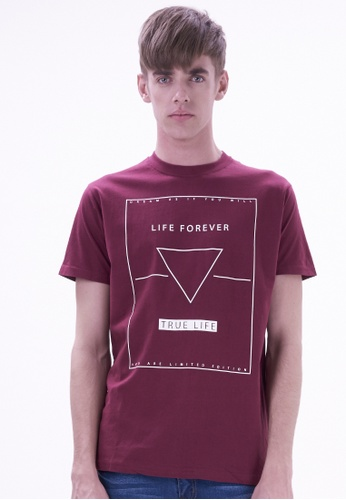 Drum red Fashion Graphic Tee- MAROON DR425AA19VEMMY_1