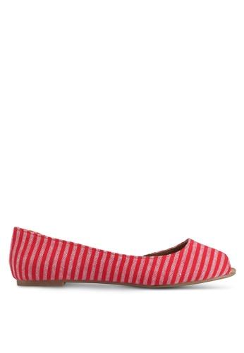 Rubi red Penelope Dorsay Peep Flats 4C855SH60FCCBAGS_1
