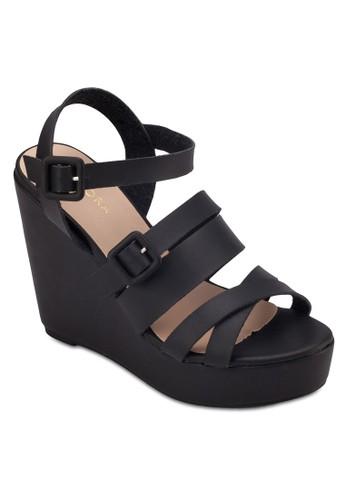 多zalora 心得帶楔型跟厚底涼鞋, 女鞋, 鞋